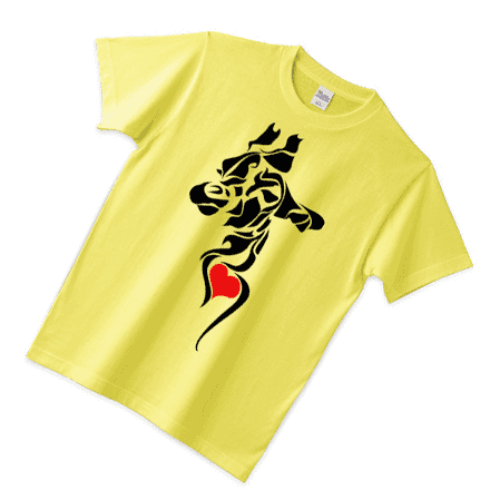 fooldesignオリジナルストライプイエローTシャツ