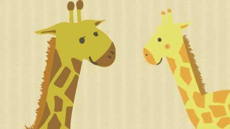 キリンイラスト - とってもかわいい動物のフリー素材集
