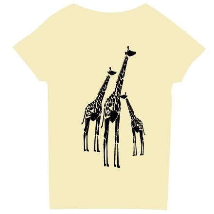 シャーベットイエローキリンTシャツ