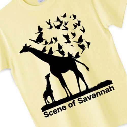 キリンTシャツ - かっこいいアートなデザイン