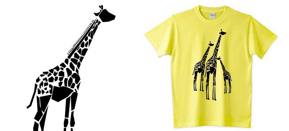 キリンの長いシルエットシャツ