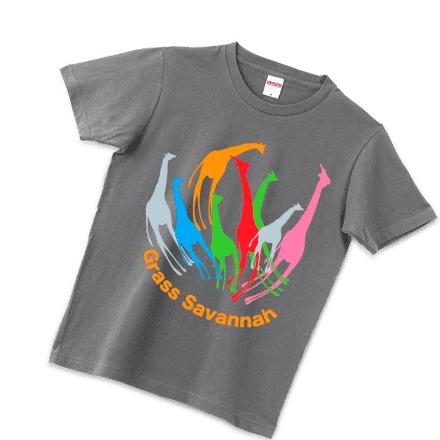 キリンのグレーTシャツ
