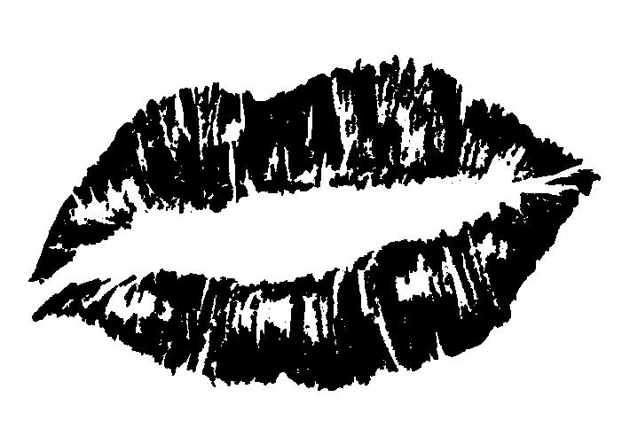 黒いキスマークのイラスト