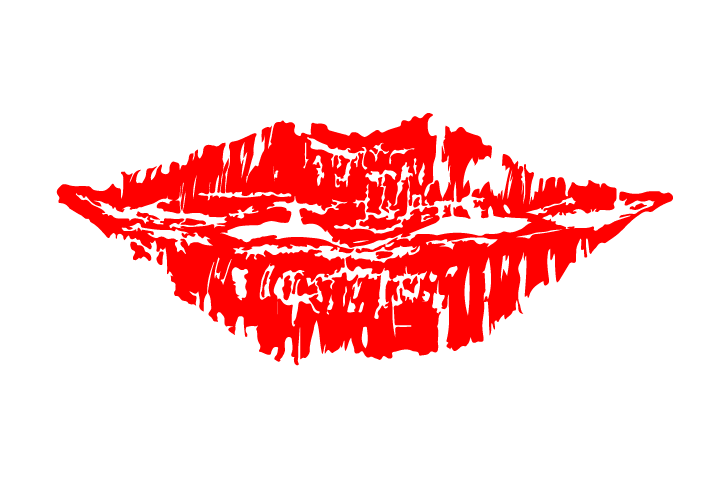 唇のシルエット