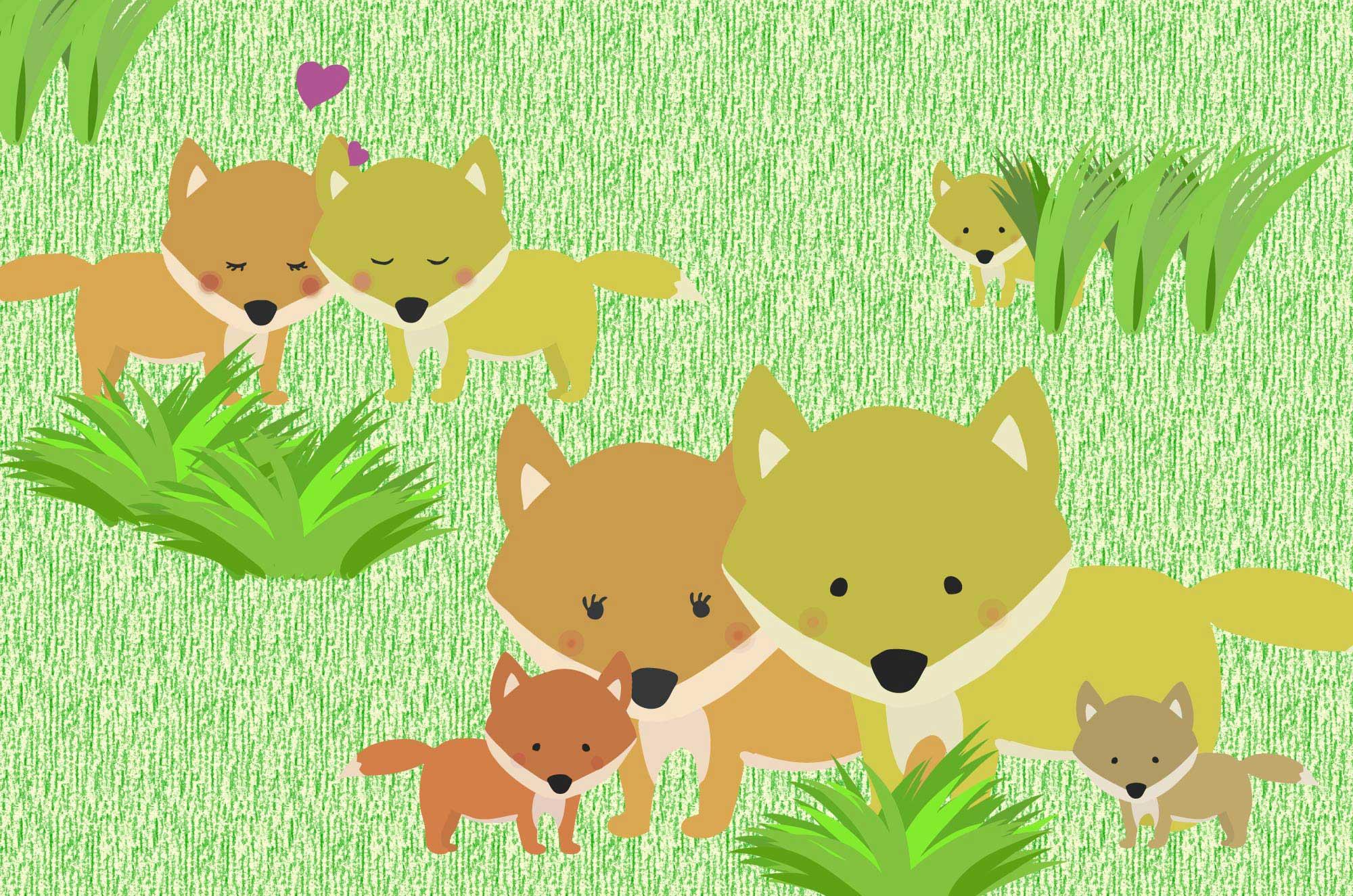 キツネのイラスト - コンコン可愛い動物フリー素材集