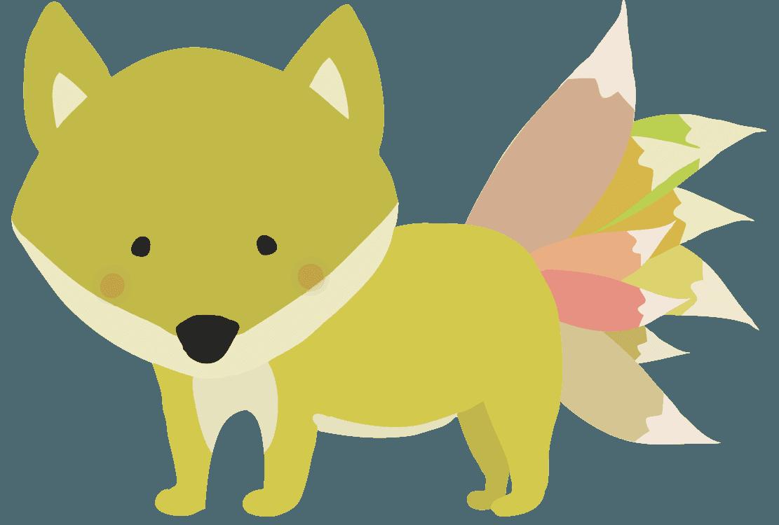 妖怪九尾の狐イラスト