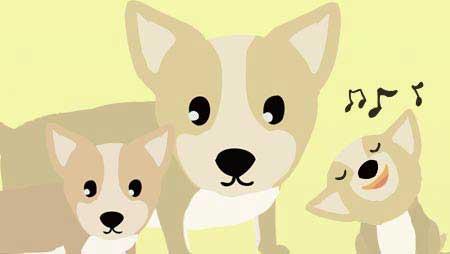 コーギーのイラスト - 可愛い犬のキャラクター無料素材