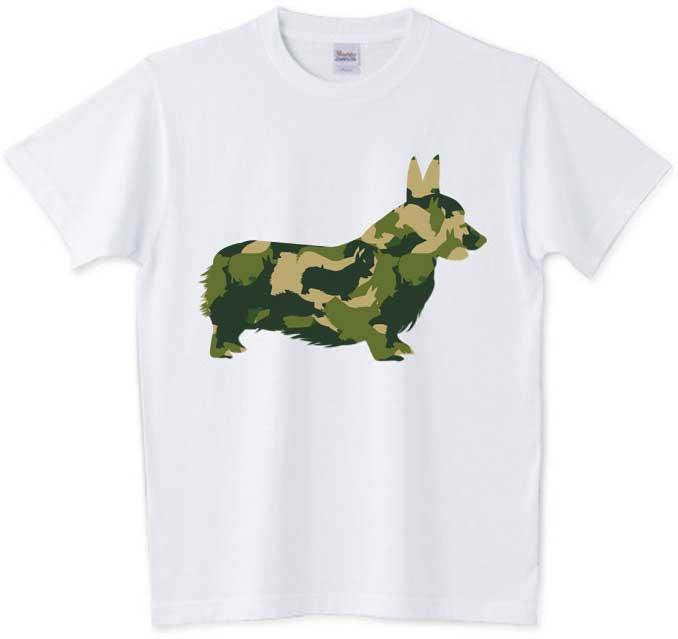 アーミーテイストのコーギーTシャツ