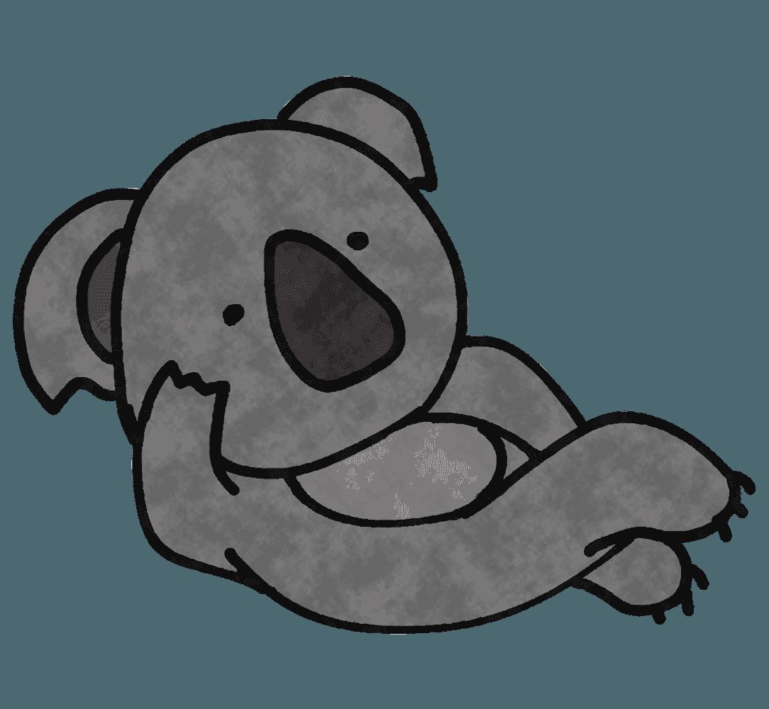 横になって怠けるコアライラスト
