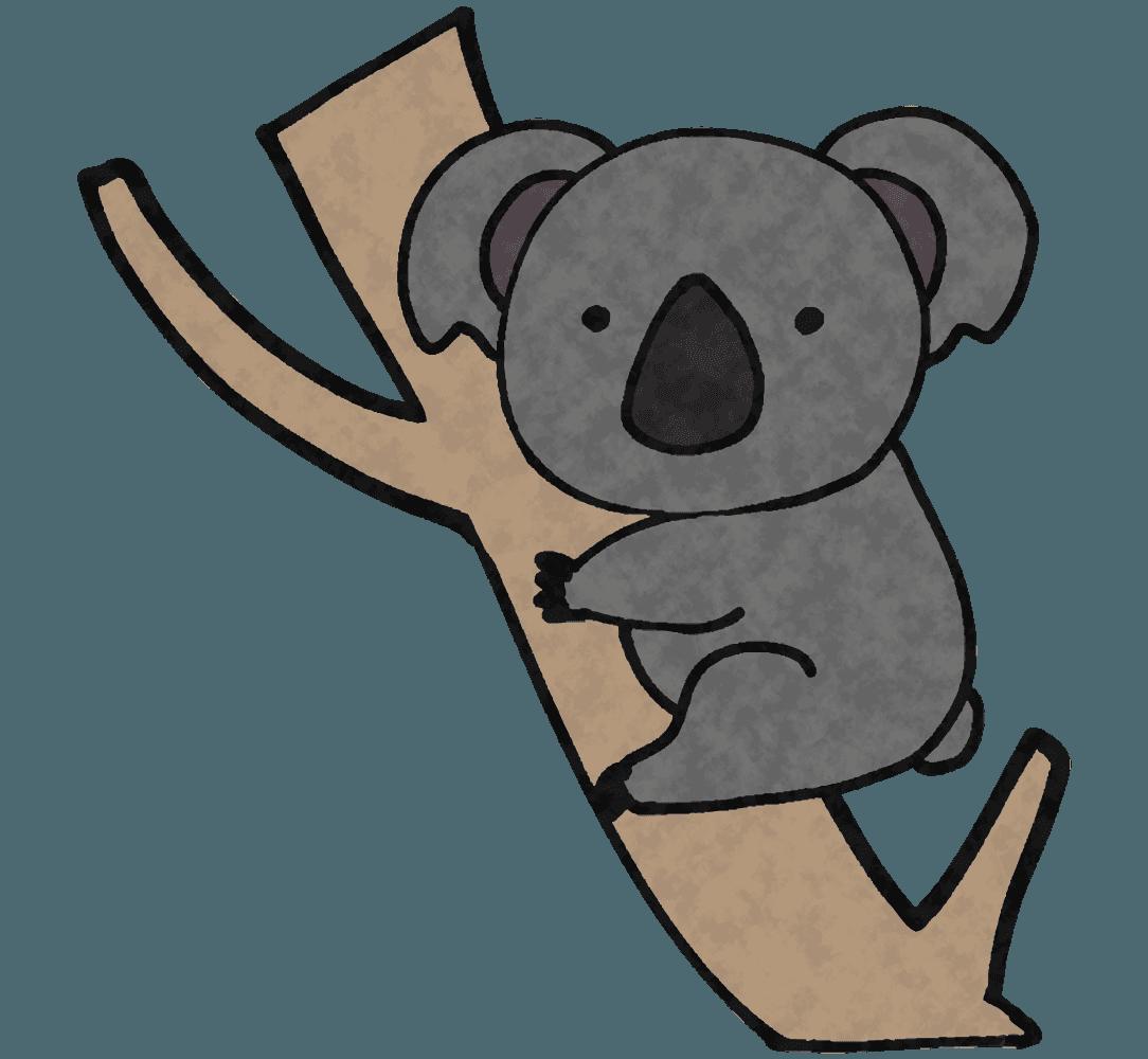 コアラとユーカリの木イラスト