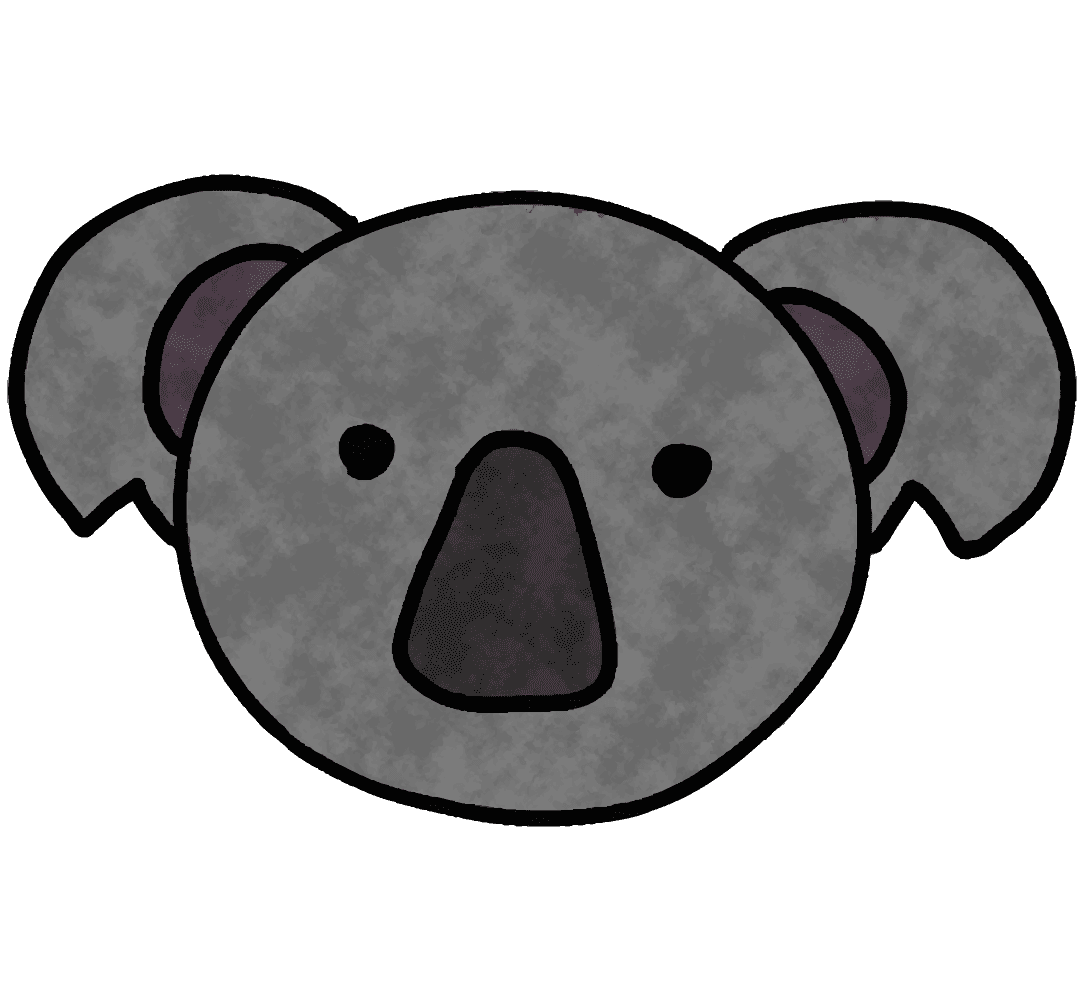 可愛いコアラの顔イラスト