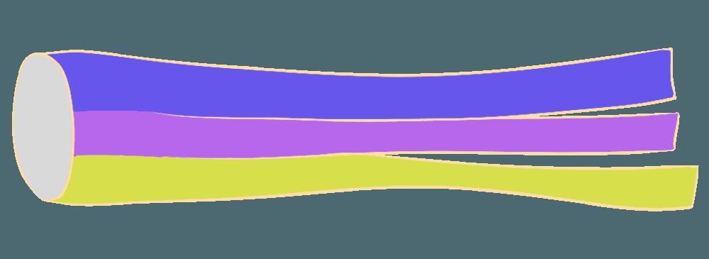 吹き流し紫と黄色イラスト