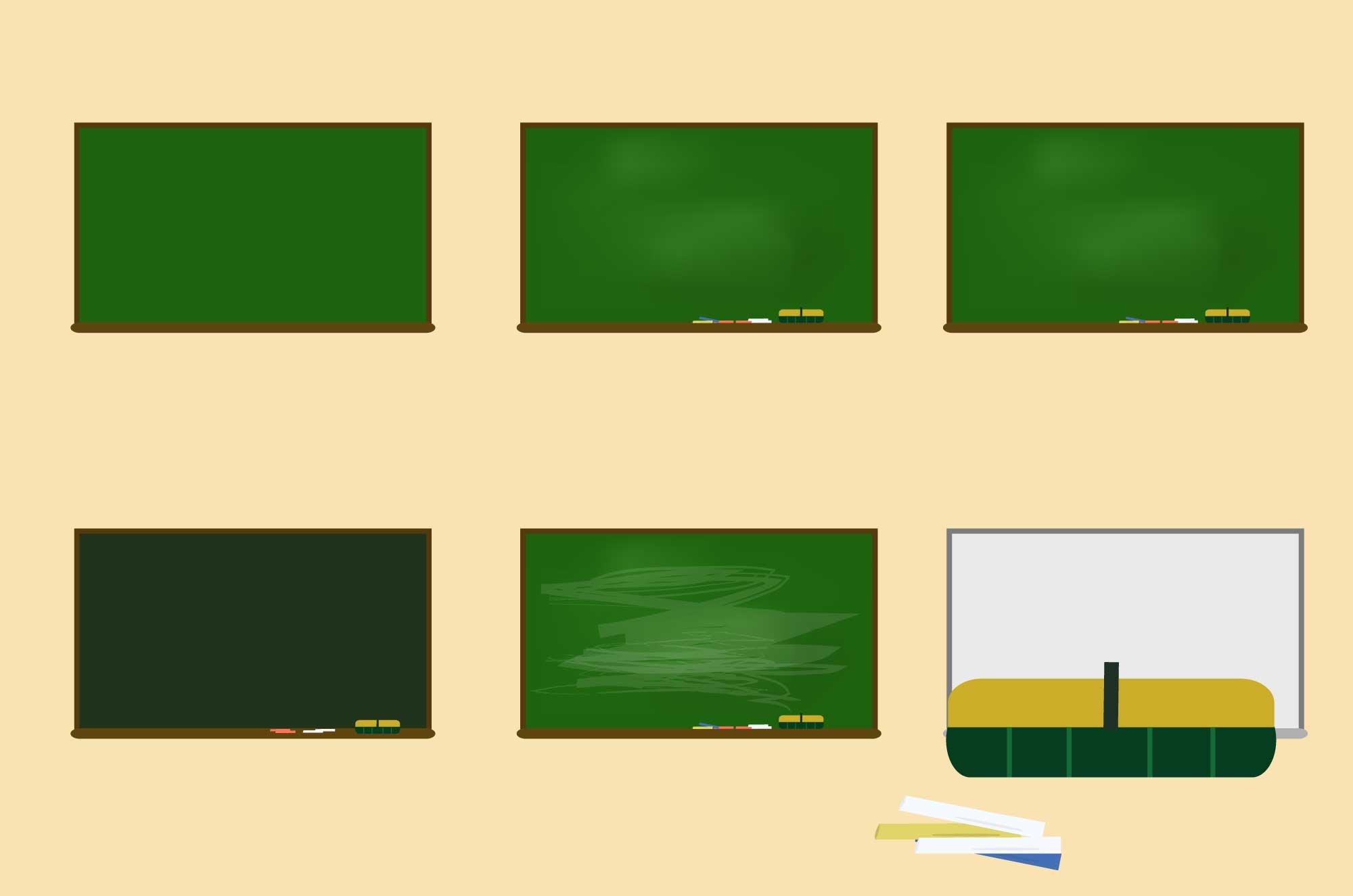黒板の無料イラスト - 学校のイメージ・デザイン素材