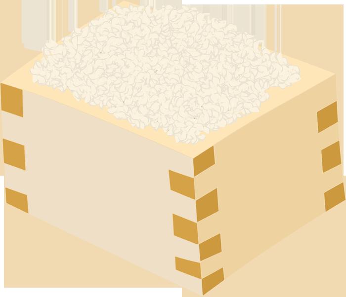升に入ったお米のイラスト