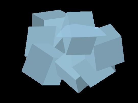 シンプルな氷のイラスト
