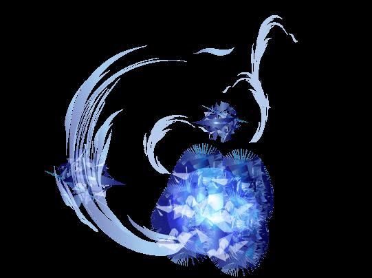 輝冷気と氷のイラスト