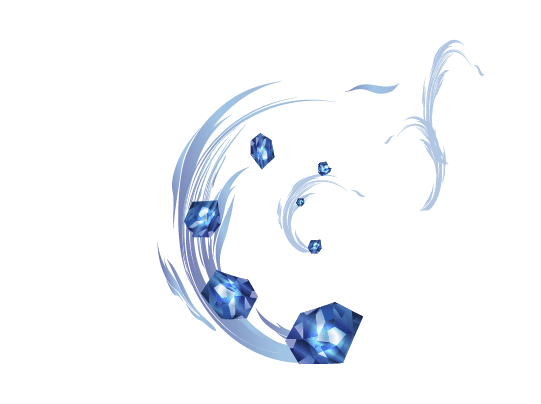 氷のつぶてのイラスト