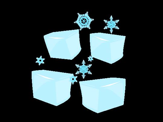 ブロック氷のイラスト
