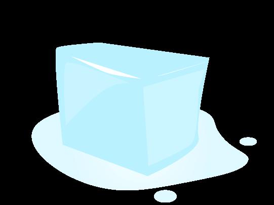 かわいい氷のイラスト