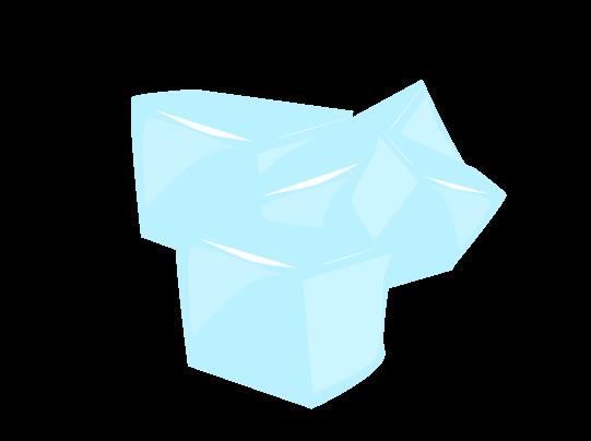氷の塊のイラスト