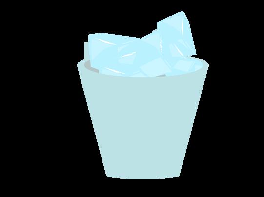 お酒に入れる氷のイラスト
