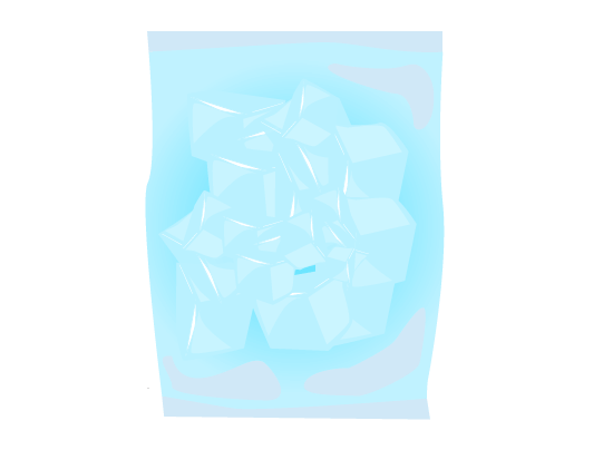袋入りブロック氷のイラスト