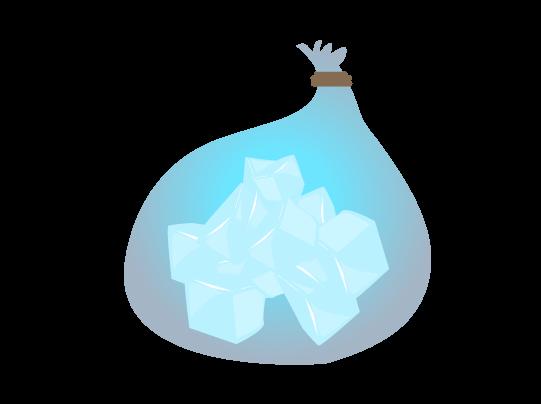 袋氷のイラスト