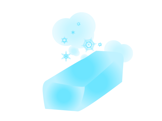 板氷・ドライアイスのイラスト