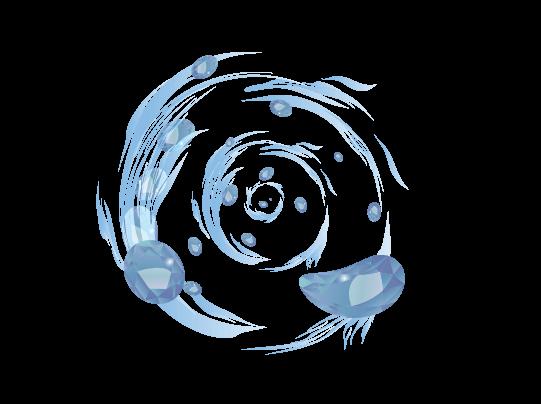 氷エフェクトのイラスト