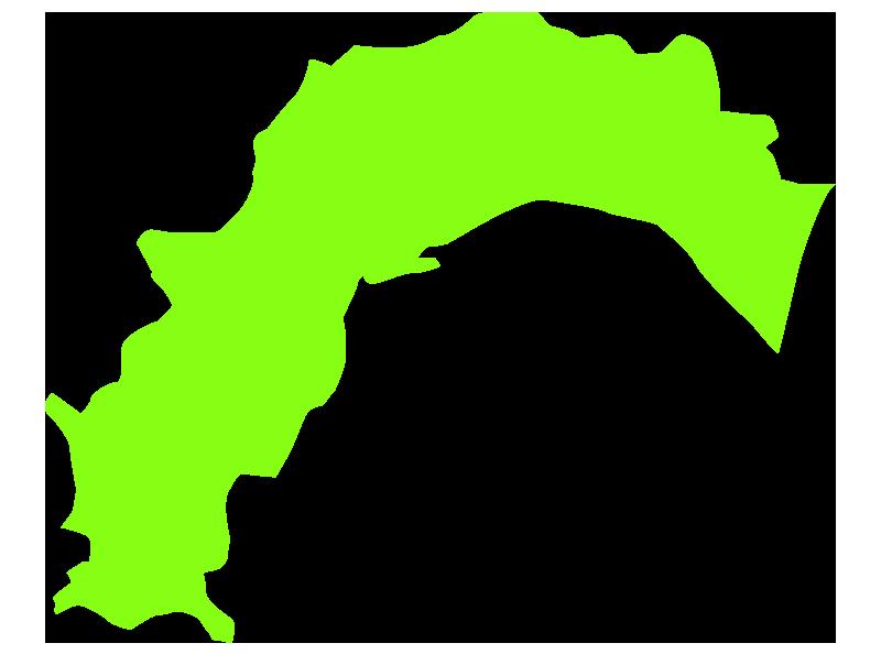 高知の地図イラスト
