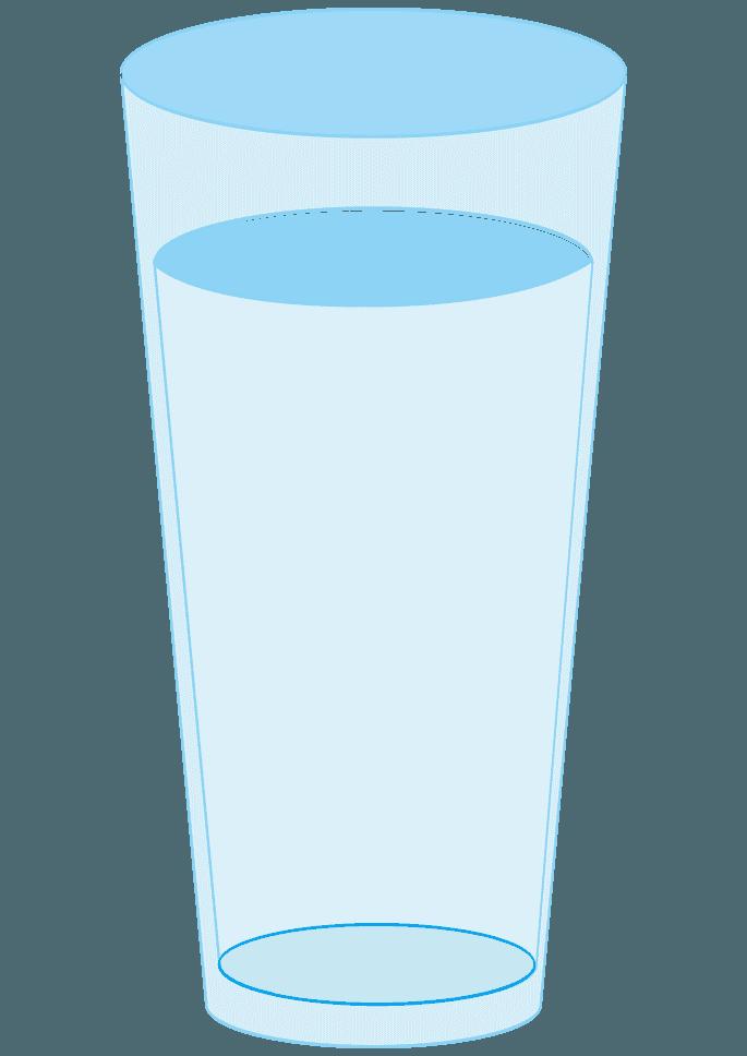 長い空のコップイラスト