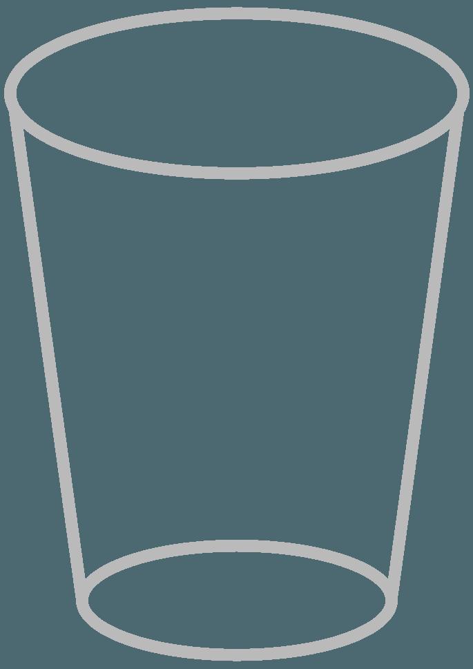 シンプルなコップの線画イラスト