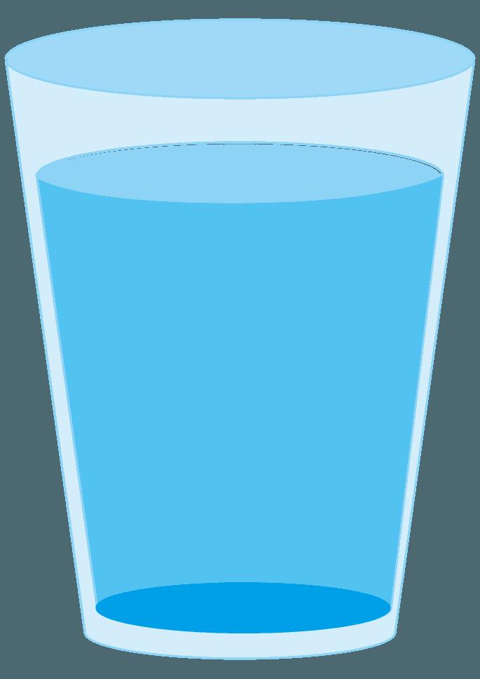 水がいっぱい入ったコップイラスト