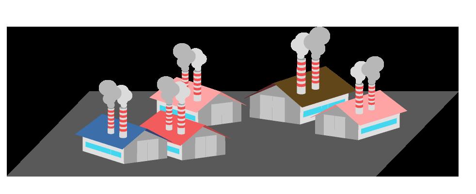 工場地帯のイラスト