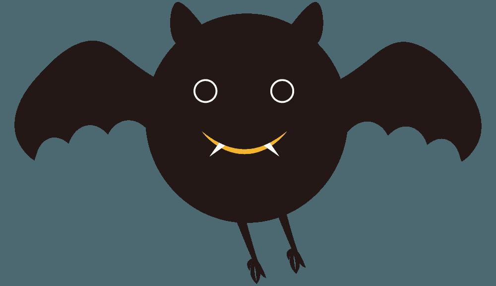 コウモリイラスト 商用利用可能なかわいい動物素材集 チコデザ