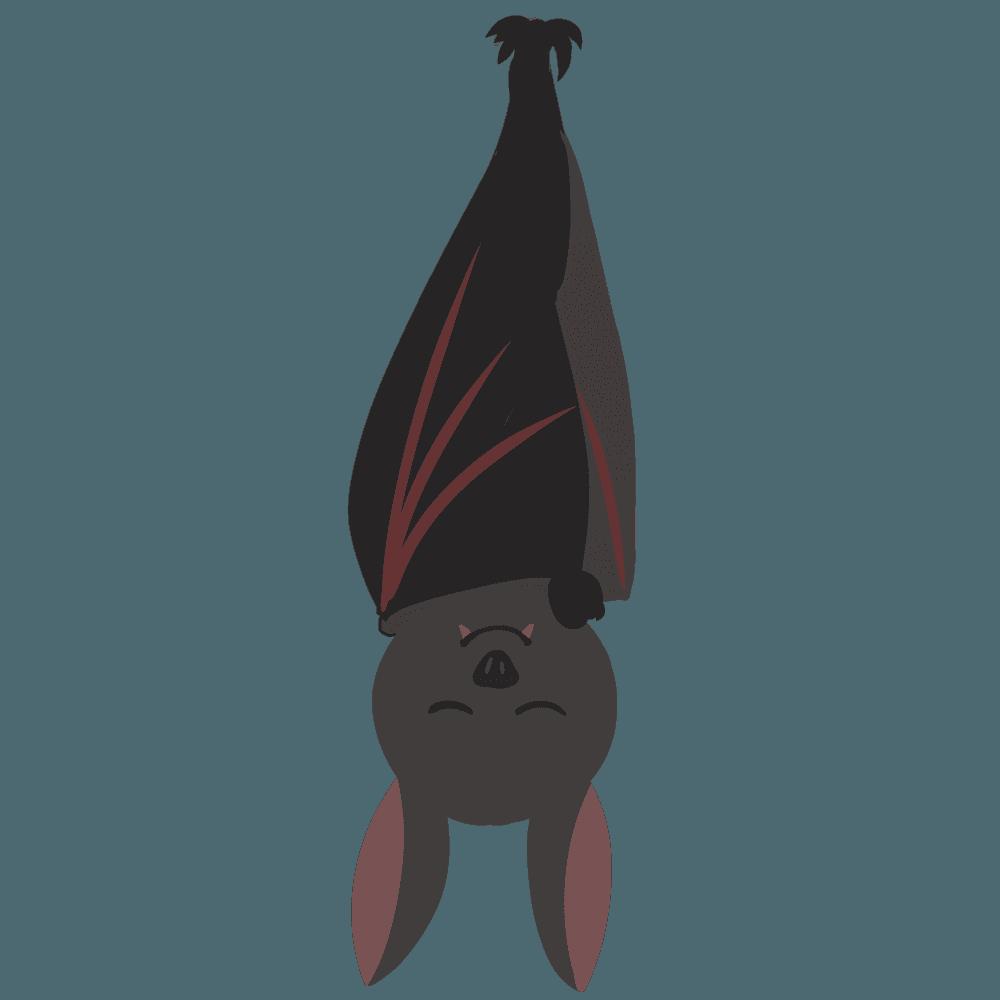 眠るコウモリイラスト