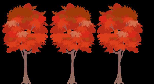 紅葉の木々のイラスト1