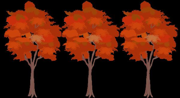 紅葉の木々のイラスト2