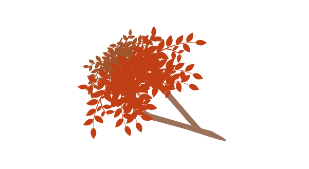紅葉の枝のイラスト5