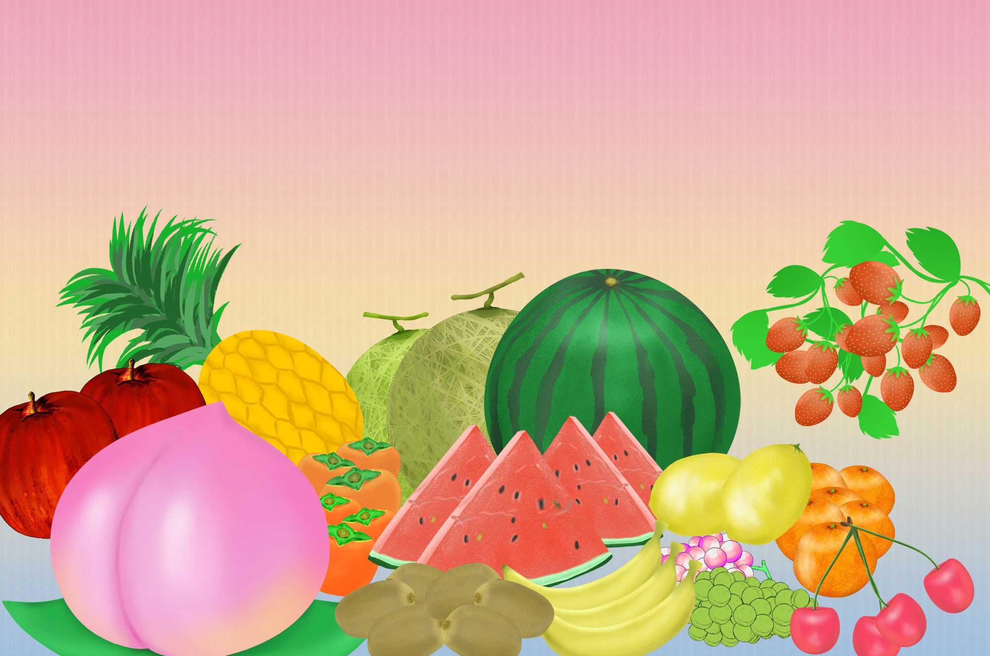 果物イラスト - かわいいフルーツの無料素材まとめ - チコデザ