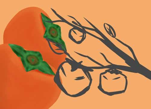 柿イラスト