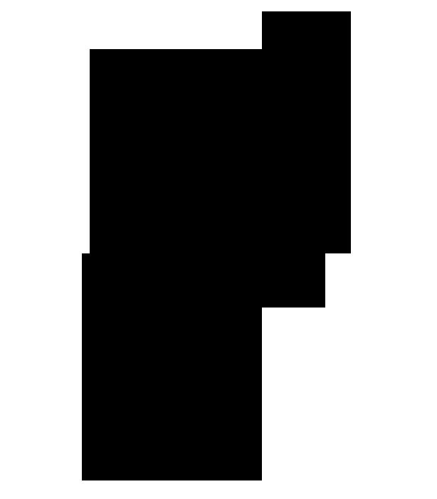 孔雀の羽シルエットイラスト