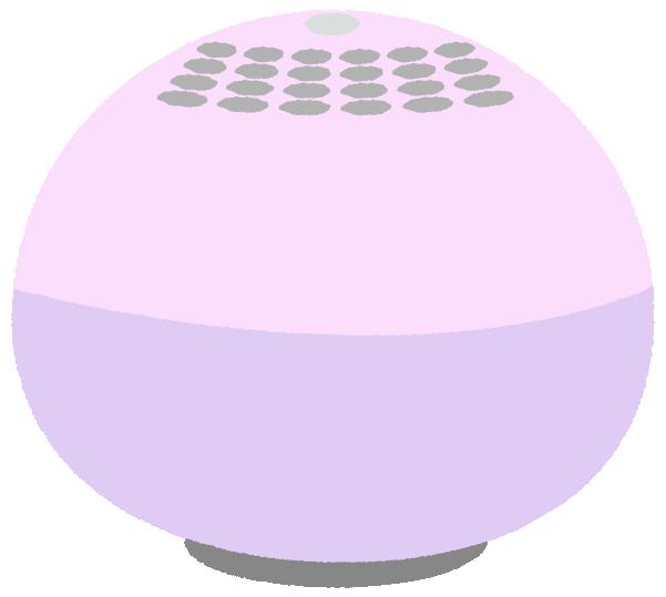 可愛い丸型の空気清浄機のイラスト