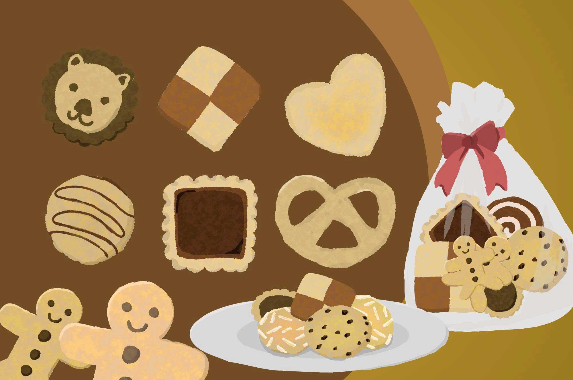 クッキーイラスト - 美味しそうで可愛いお菓子の無料素材