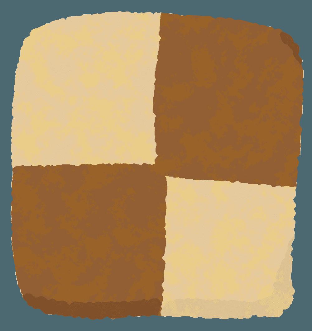 チェック(アイスボックス)クッキーのイラスト