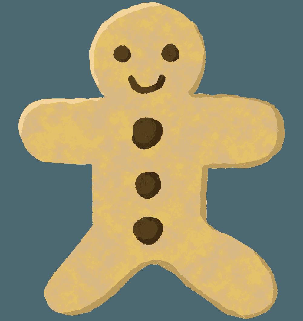 人型のクッキーのイラスト