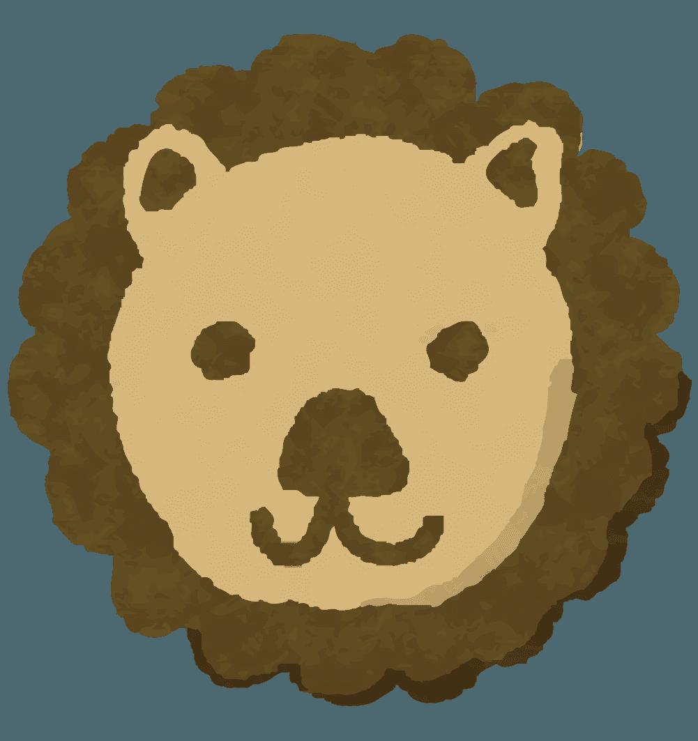 可愛い動物ライオンクッキーのイラスト