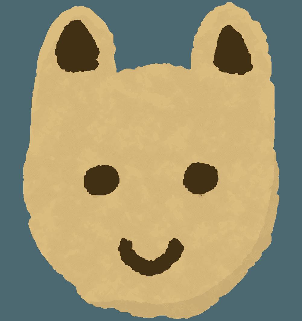 可愛い動物うさぎクッキーのイラスト