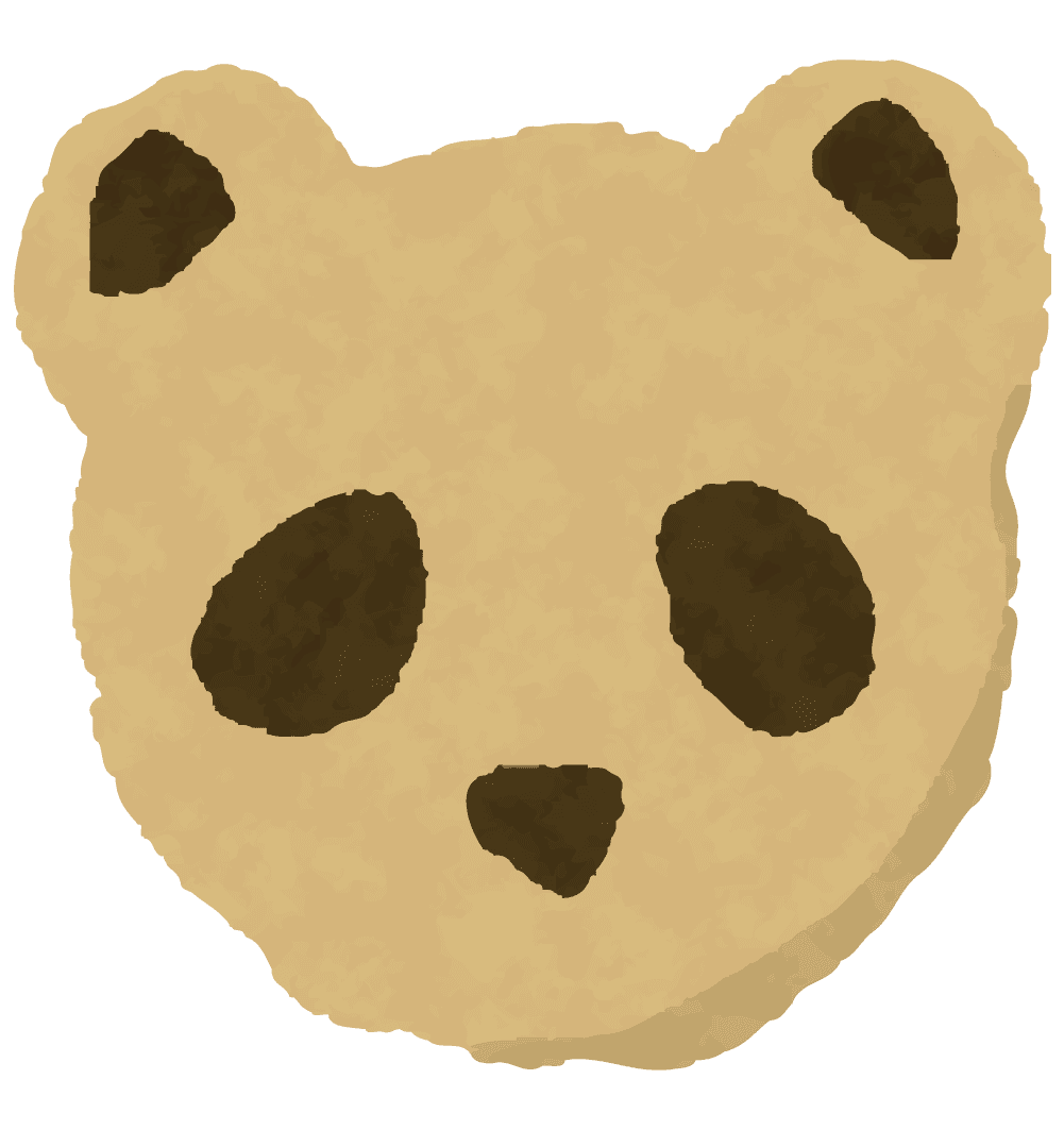 パンダのクッキーのイラスト