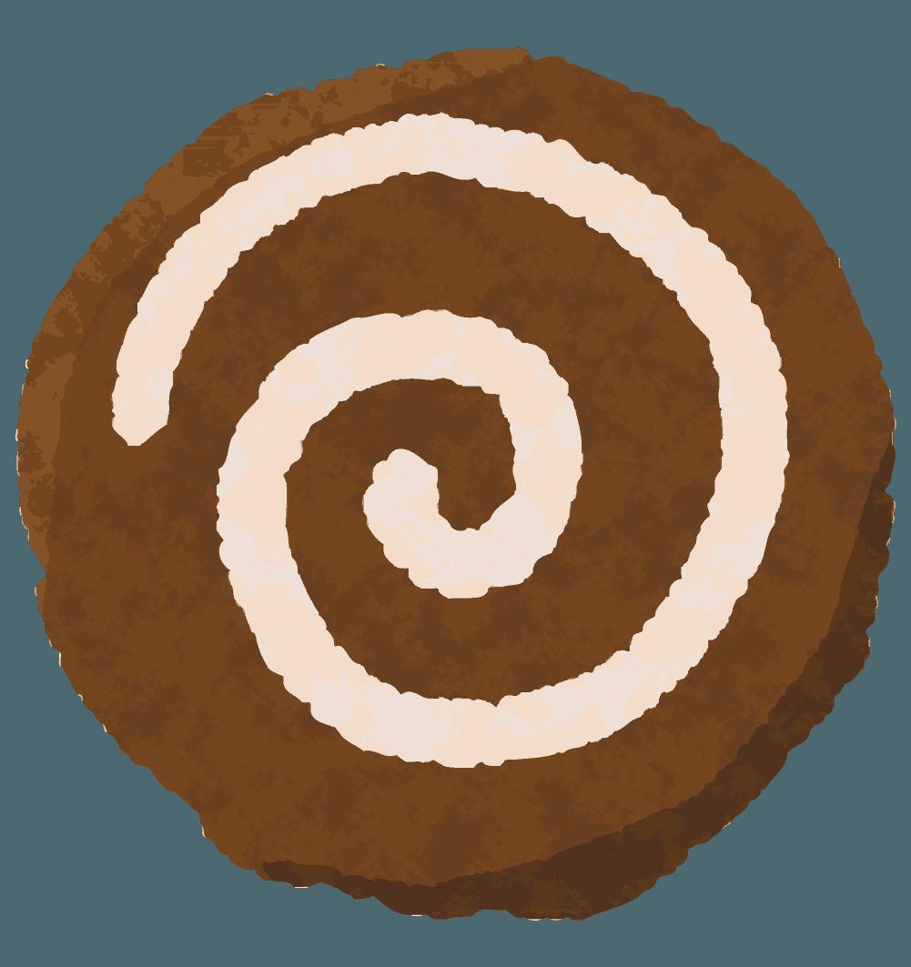 ぐるぐるチョコクッキーのイラスト